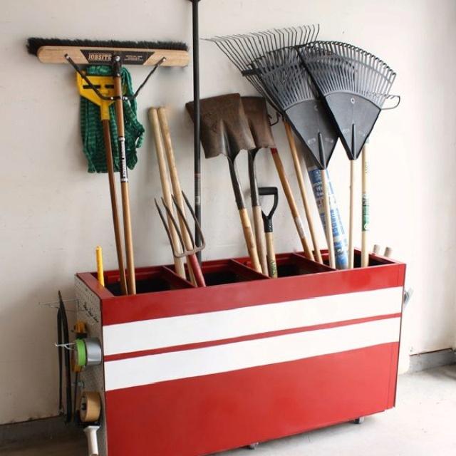 Repurposed file cabinet - such a good idea!
