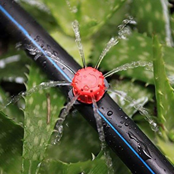 Garden Tool Parts 50pcs Garden Irrigation Micro-sprinklers Misting Micro Flow Dripper Drip Head 1/4'' Hose