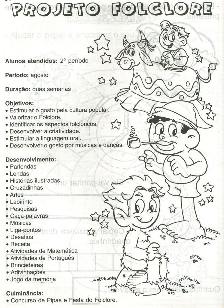 BAUZINHO DA WEB - BAÚ DA WEB Desenhos para colorir pintar e Atividades Escolares: TEXTOS DE FOLCLORE ATIVIDADES LENDAS DO FOLCLORE BRASILEIRO