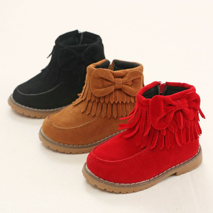 Winter  Snow  Boots   Children  Bowknot  Adornment  Girls  Side  Zipper   Shoes  Kids  Keep  Warm  Tassel  Small  Princess  Shoe #>=#>=#>=#>=#> Click on the pin to check out discount price, color, size, shipping, etc. Save and like it!