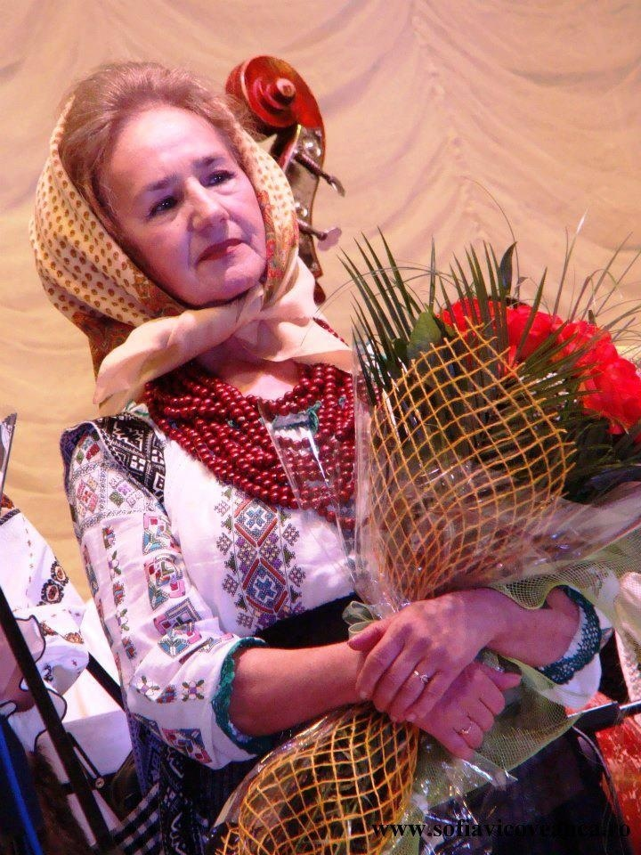 Sofia Vicoveanca, famous Romanian folk singer and collector of old traditional costumes