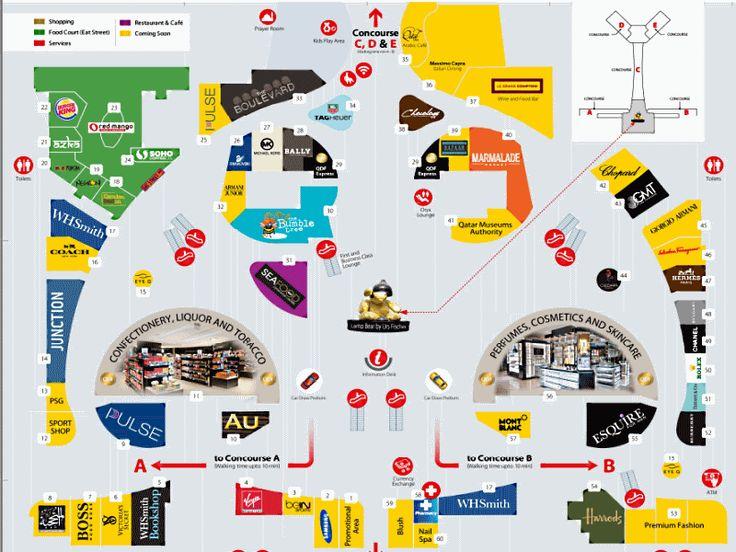 Doha Airport Terminal Map Airport guide, Airport map, Map