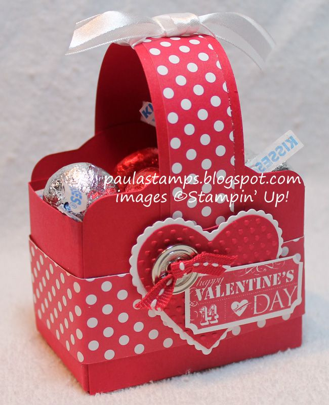 Stampin' with Paula: Valentines Two Tags Basket