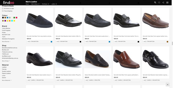 Big selection of loafers for men on Findoo Australia.