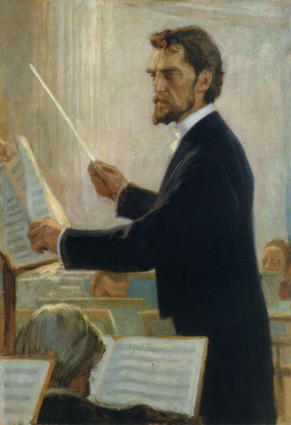 Kapellimestari Robert Kajanuksen Muotokuva 1905, Albert Edelfelt (1854-1905)