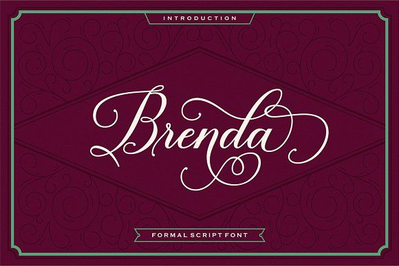 Brenda Script (40% Off) by Seniors on @creativemarket