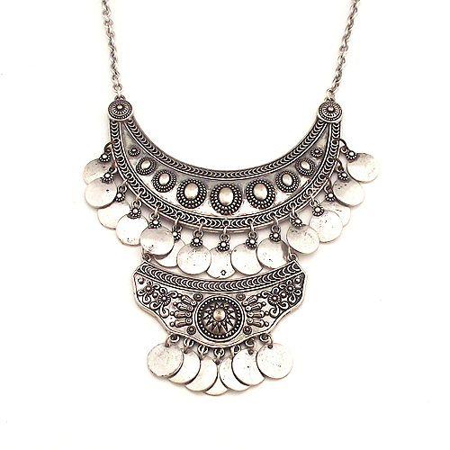 Encontrar Más Cadenas Información acerca de Maxi collar moda de estilo bohemio aleación declaración moneda neckmlace para para 2015, alta calidad Cadenas de Cheap brand jewelry for lady en Aliexpress.com