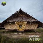 Abrigo de bambu para crianças refugiadas na Tailândia