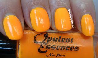 Secretary`s Nail Art: Opulent Essences - Taste The Rainbow Collection - Orange