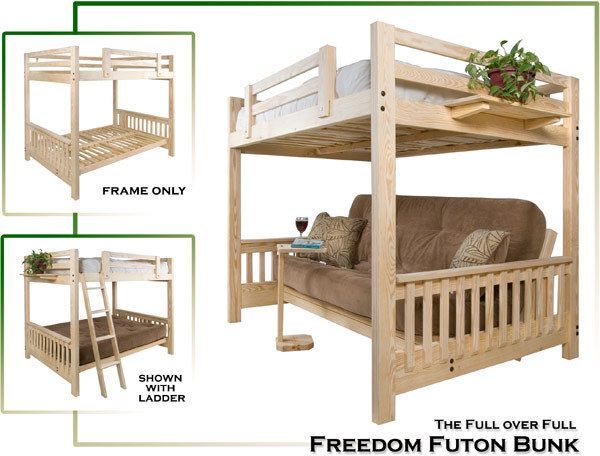 Full Over Full Futon Bunk Maximize Your Living Space Bunk Beds Diy Bunk Bed Bunk Bed Designs