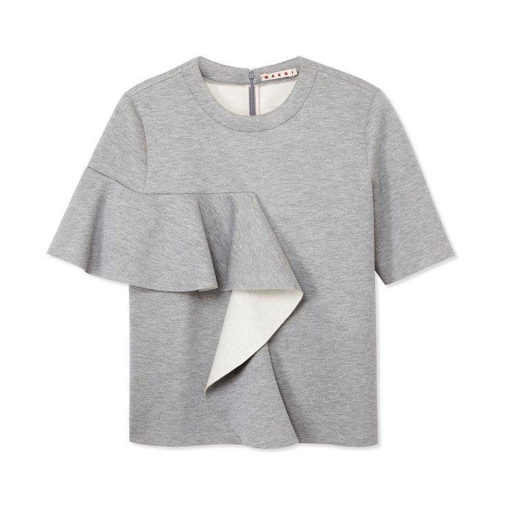 Marni Gray Ruffle Sweatshirt