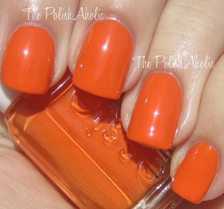 25+ Best Ideas About Orange Nail Polish On Pinterest