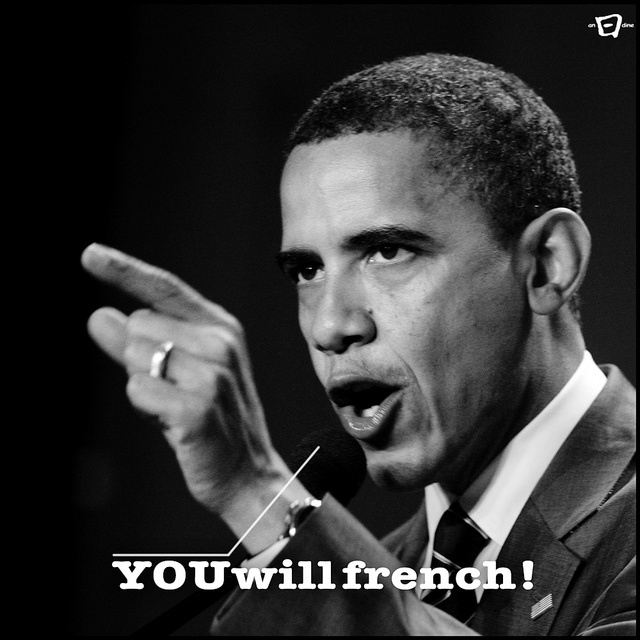 #obamaspeakfrench // www.doyoufrench.com/ by doYOUfrench, via Flickr