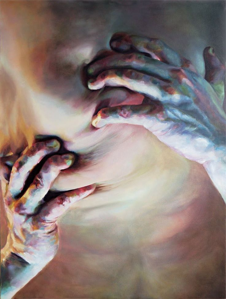 """Droitual III"" Cara Thayer & Louie Van Patten Oil on Canvas 45x34in"