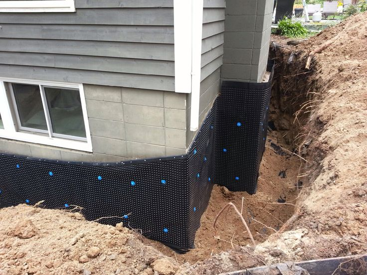 11 best exterior drain tile systems images on pinterest basement waterproofing drain tile and for Exterior drain tile installation