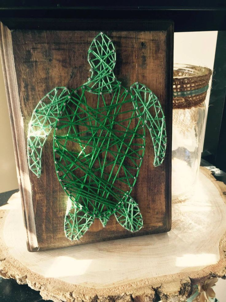 A personal favorite from my Etsy shop https://www.etsy.com/listing/268483649/sea-turtle-string-art