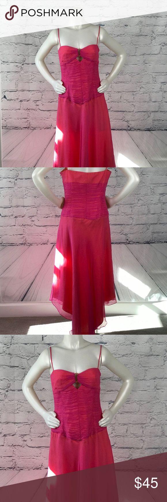 "Laundry Shelli Segal Silk Handkerchief Dress B405 Laundry Shelli Segal Silk Handkerchief Dress B405 Brand New With Tag NWT Size 12 Waist 19"" Bust 16"" Length 45"" Laundry By Shelli Segal Dresses Asymmetrical"