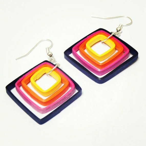 Check out this item in my Etsy shop https://www.etsy.com/listing/246427151/simple-square-earrings-made-from-yellow