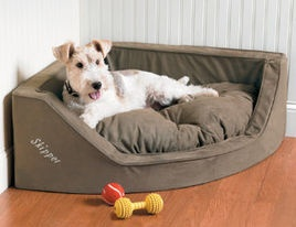 "The term ""corner nook"" takes on a whole new meaning. #dogbed #petaccessories #petperks"