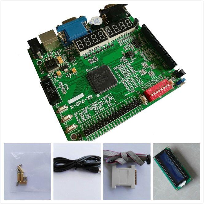 Free shipping LCD1602+xilinx fpga development board spartan6