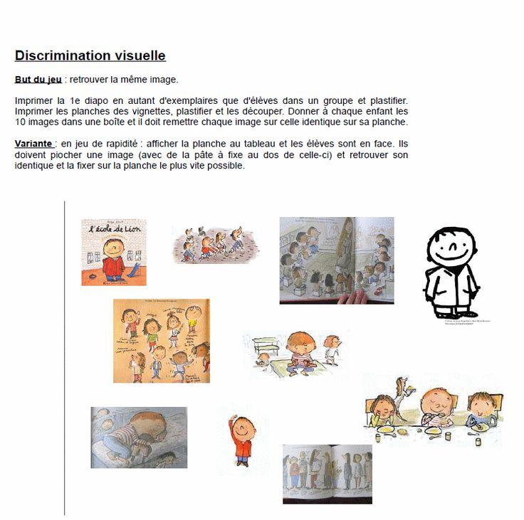 discrimination visuelle à partir de l'album L'école de Léon
