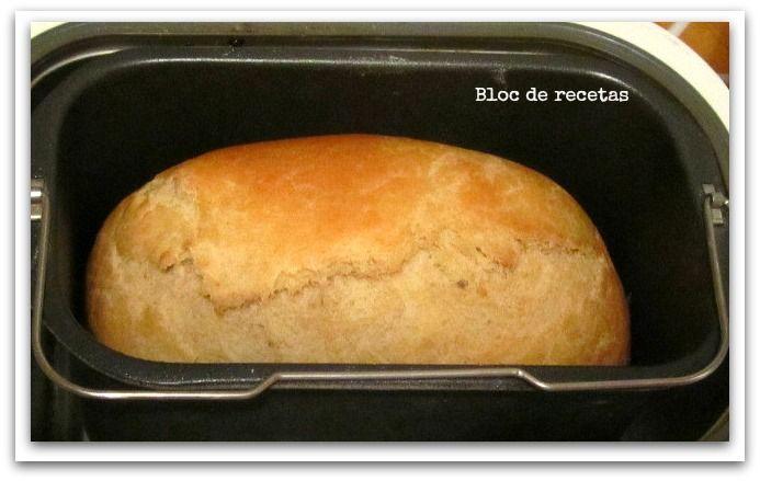 Pan de molde de miel en panificadora. Receta.