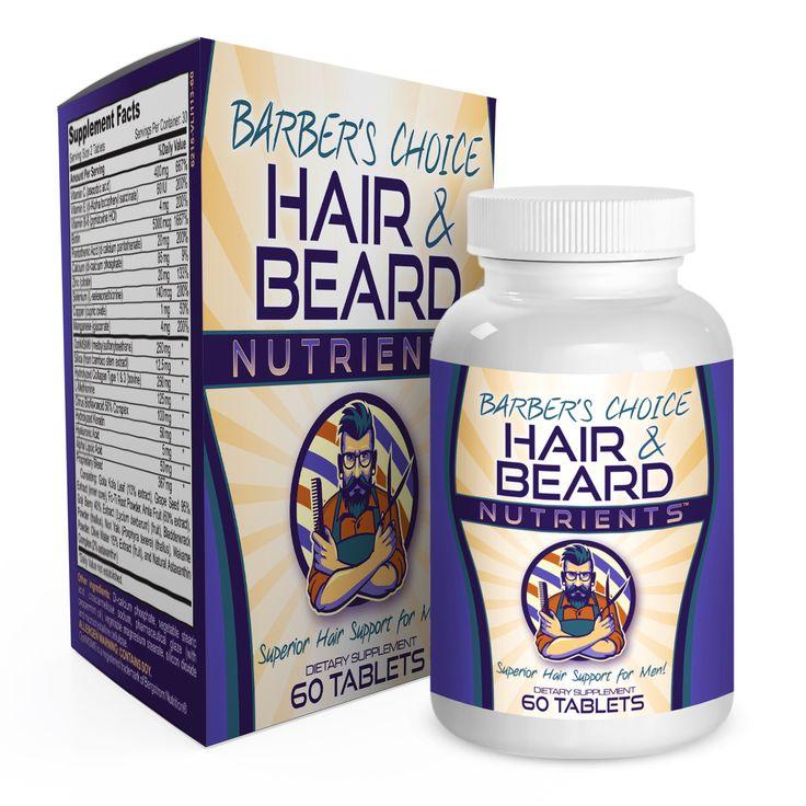 Barber's Choice Hair & Beard Nutrients for Men - Healthy Hair Growth Vitamins / Supplements