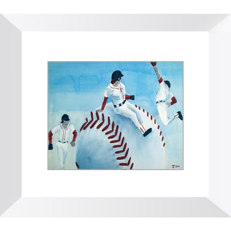 Red Sox - Framed Print of Baseball Poster Paint Fine Art