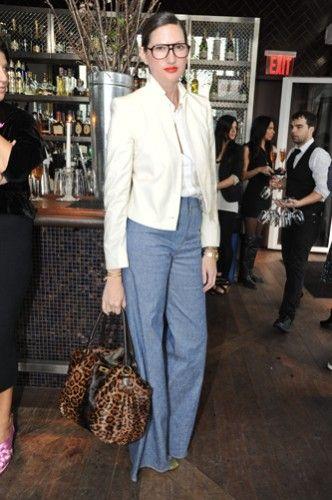 Jenna Lyons: Study Her Style: Wjenna Lyons, Style Inspiration, Style Crushes, Style Icons, Obsession Wjenna, Style Pinboard, Denim Pants, Jenna Lyons Style, Wide Legs Trousers