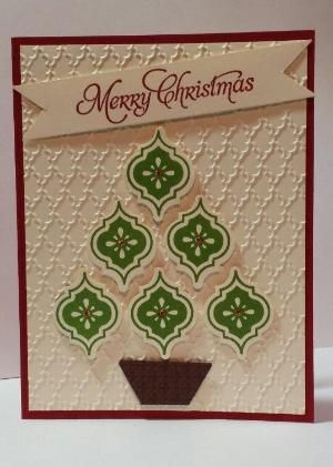Mosaic Christmas Card...Stampin Up by Jackie Bee