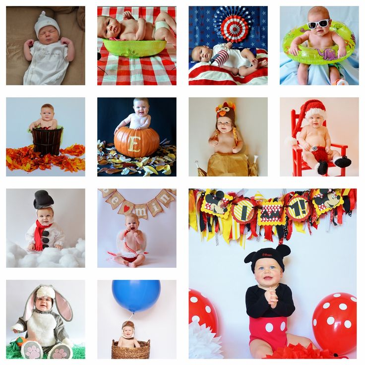 Calendar Photo Ideas For Each Month : Adorable monthly theme photo baby gadus pinterest