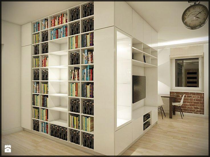 Mieszkanie w starej kamienicy - Średni salon z jadalnią, styl minimalistyczny - zdjęcie od CUDO - grupa projektowa