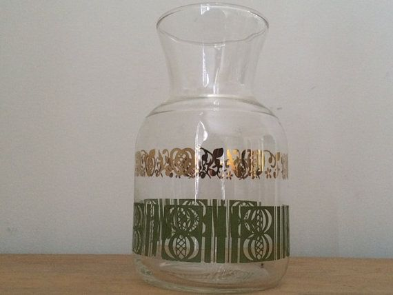 Mid Century Modern Carafe Juice Carafe by REACQUAINT on Etsy