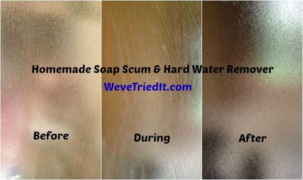 How to remove soap scum and hard water stains hard water stains and soap scum on shower doors for Best bathroom cleaner for hard water