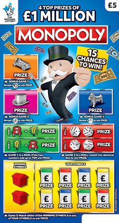 National Lottery Monopoly Classic Scratchcard   UK ...