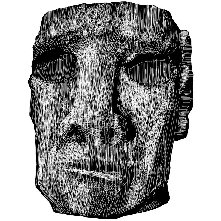Easter Island - Statue illustration on Behance