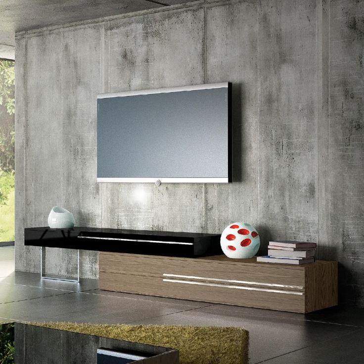 Gramercy TV Stand In Walnut/Black Combination By Ted Toledano. Tv  FurnitureFurniture DesignContemporary ...