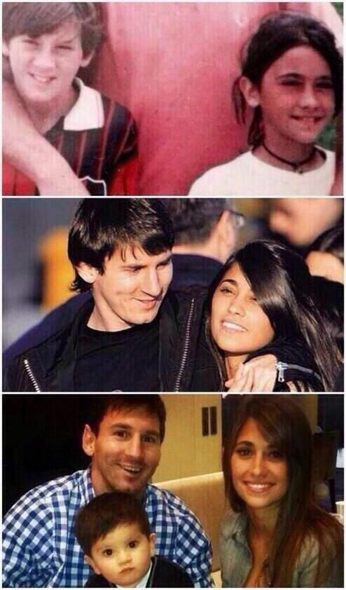 This is actually adorable. Football star Lionel Messi has been with his wife since they were kids. - Imgur