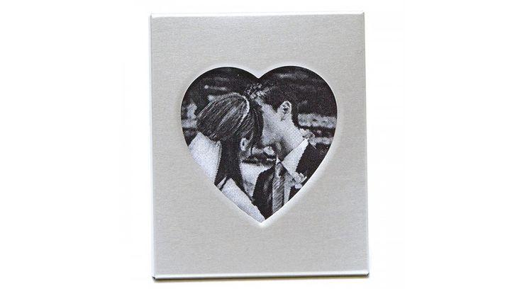 Mini szív - mágneses fényképtartó - Fényképtartó köszönetajándékok