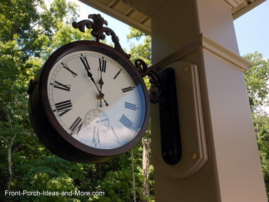 how to hang an outdoor clock on your front porch