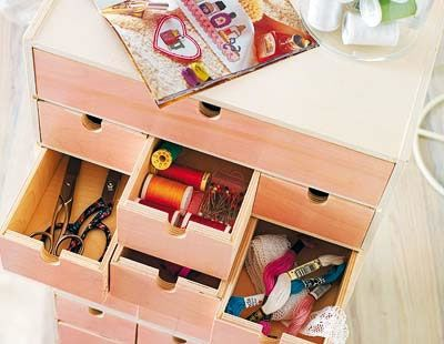 Organizador fácil para el cuarto de manualidades