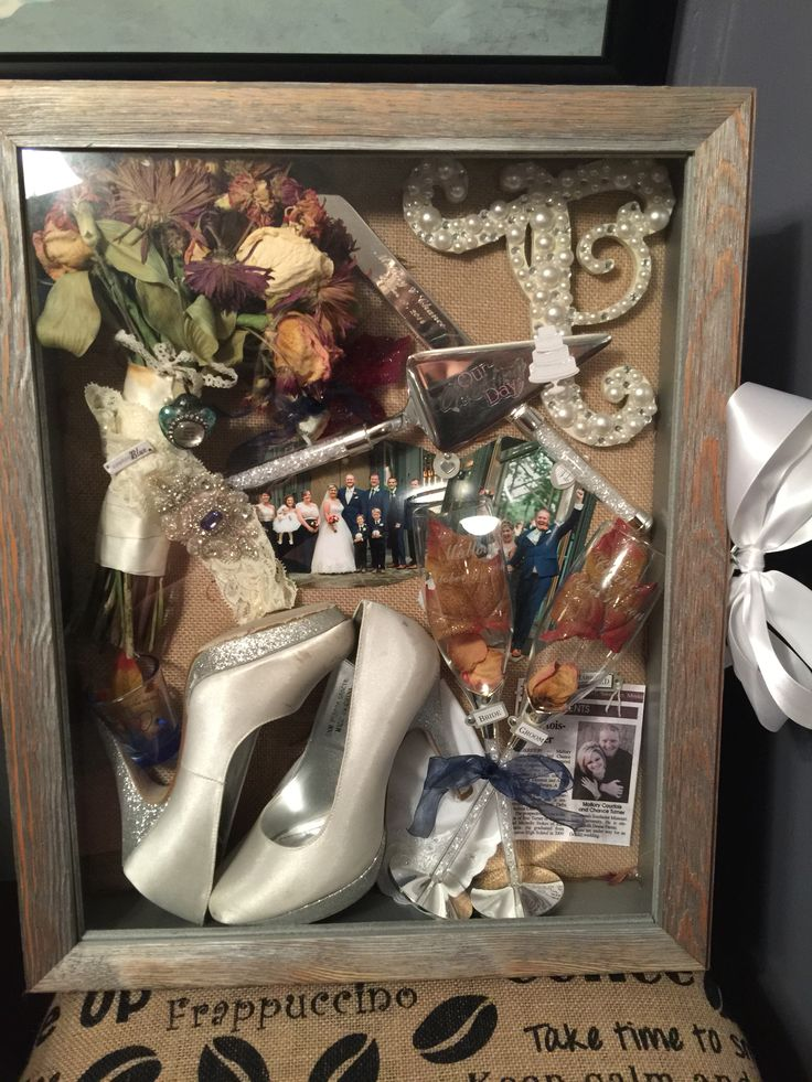 My wedding shadow box ... Turned out perfectly! More
