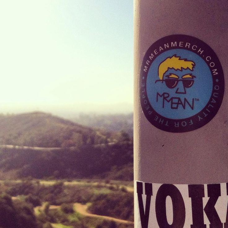 Spotted: Mr Mean™ sticker at the Griffith Observatory in L.A.