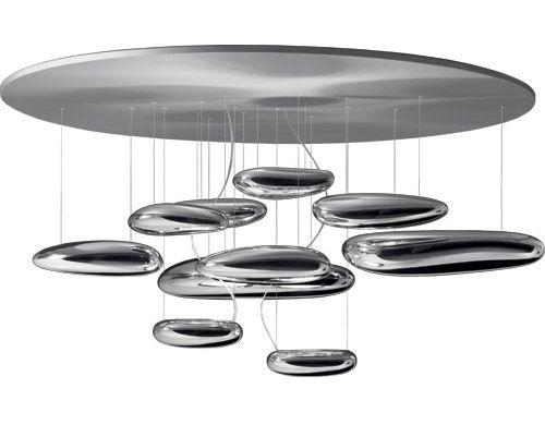 mercury ceiling lamp  Design Ross Lovegrove, 2008  Die-cast aluminum, Thermoplastic  Made in Italy by Artemide