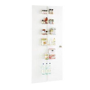 White elfa utility Pantry Door & Wall Rack Solution