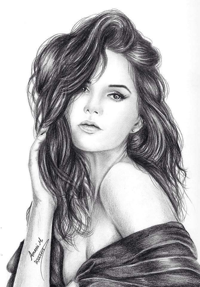 Резултат с изображение за sketch of sad girl face   Art ...