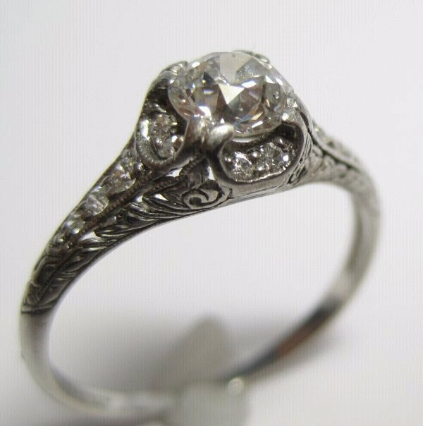 My antique Tiffany and Co. circa 1910 engagement ring from the best man on this planet.