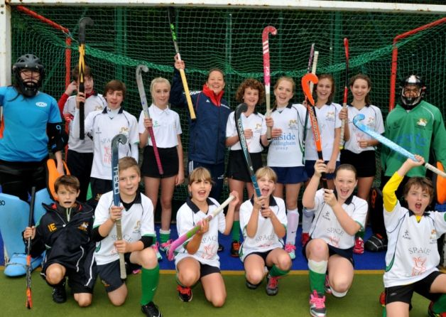 Commonwealth Games silver medal winner Ellie Watton put young hockey players through their paces during a visit to Preston.