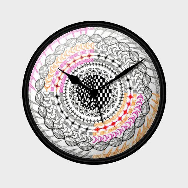 Colourful Geometric Mandala Wall Clock   Artist : Amulya Jayapal   PosterGully