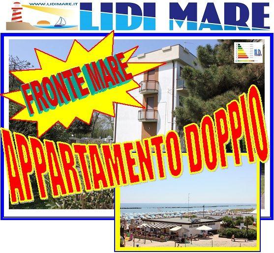 Appartamento Quadrilocale Fronte Mare composto dalla Fusione di Due Appartamenti Bilocali sulla Spiaggia in Lido delle Nazioni Comacchio Trattativa riservata